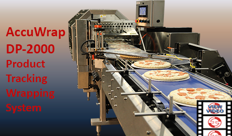 Side Seal Shrink Wrap of Pizza with Product Monitoring Wrapper Line video